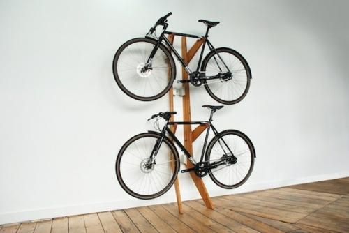 Den Fahrrad zu Hause richtig aufbewahren ständer holz