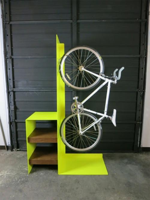 DIY Fahrrad zu Hause richtig aufbewahren treppe