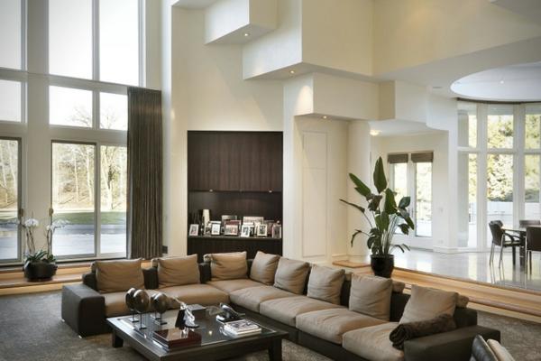 Die Grossartige Villa Von Michael Jordan Sofas Auflagen Braun Wohnzimmer