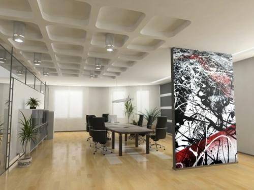 Digitale Fototapeten trennwand verkleidung esszimmer