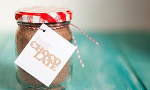 Do it yourself Geschenkidee heiße schokolade einweckglas