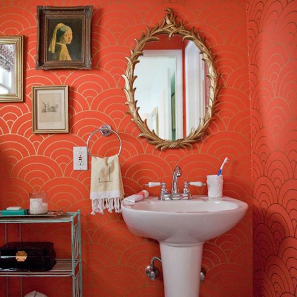 Einrichtungsideen für schöne Möbel & Wohnen orange rotgelblich wand