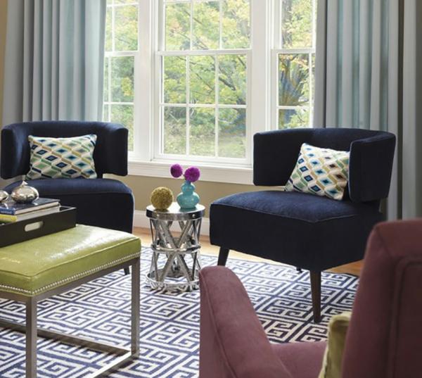 Einrichtungsideen schöne Möbel & Wohnen sessel wurfkissen