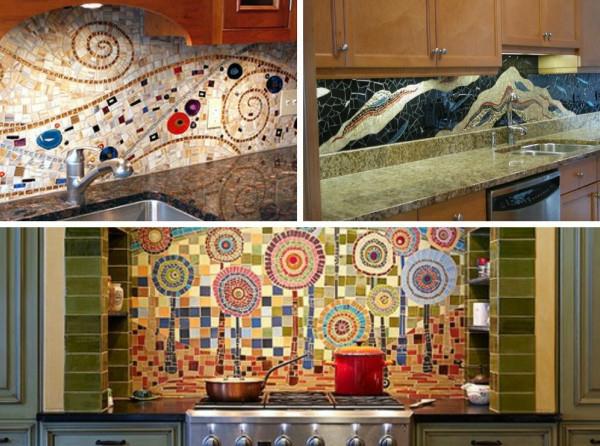 Einsatz von Mosaikfliesen im Interieur originell