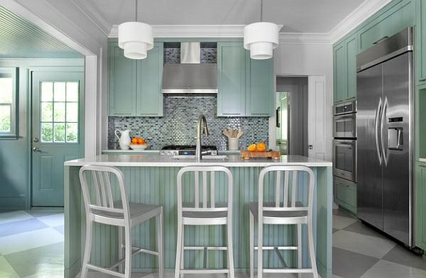 Emeco marineblauer Hocker küchenrückwand lehnen spüle