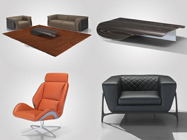 Erstaunliche Möbel Kollektion von Mercedes-Benz leder