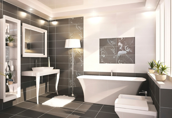 Fliesen für Ihr Badezimmer  weiß beleuchtung