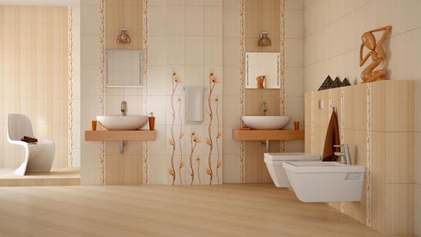 Fliesen für Ihr Badezimmer weiß beige ausstattung