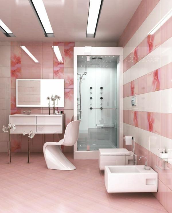 Fliesen für Ihr Badezimmer weiß feminine