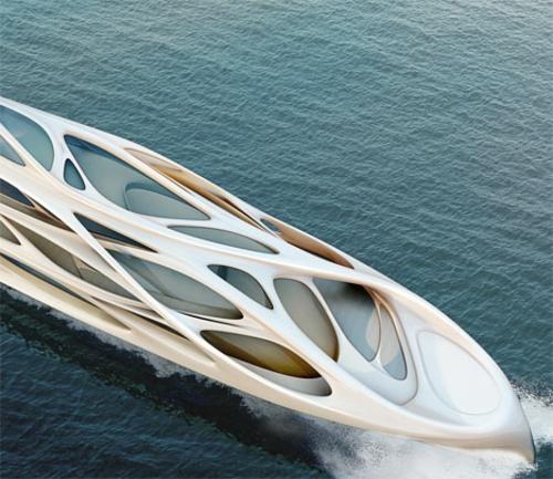 Fluid Zaha Hadid Yacht Inspiriert Von Der Organischen