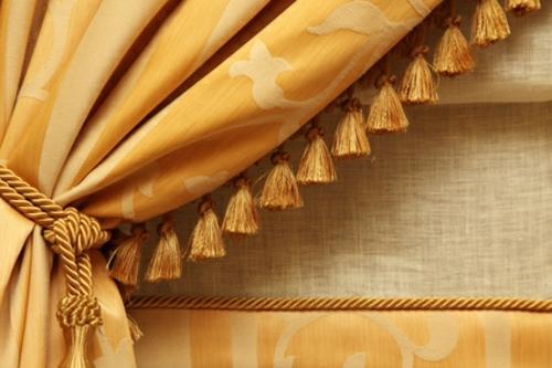 deko gardinen gelb