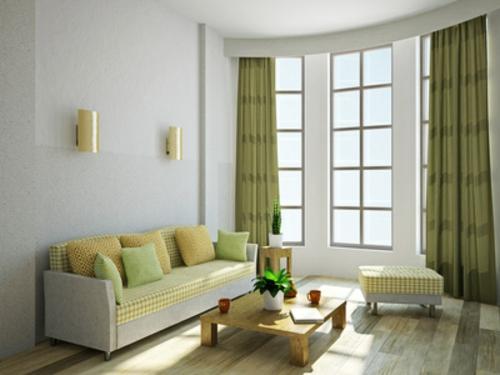 deko-gardinen in grünen nuancen