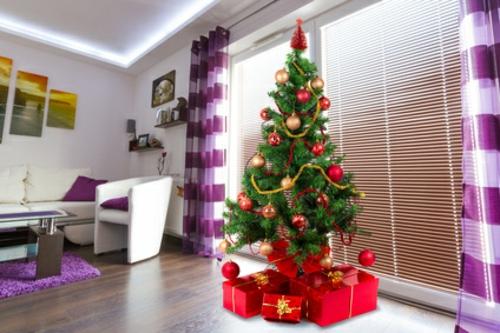 deko gardinen weihnachten