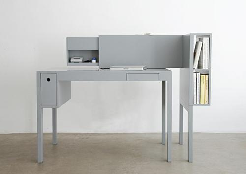 Günstige Schreibtische fürs Büro grau textur