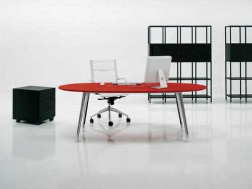 Günstige Schreibtische fürs Büro rot platte