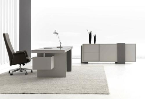 neutral günstig schreibtisch fürs büro home office grau oberflächen