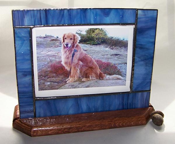 Glasmalerei zu Hause bilderrahmen haustier hund