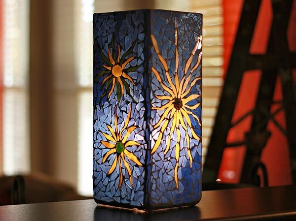 Glasmalerei zu Hause blumenvase blüten
