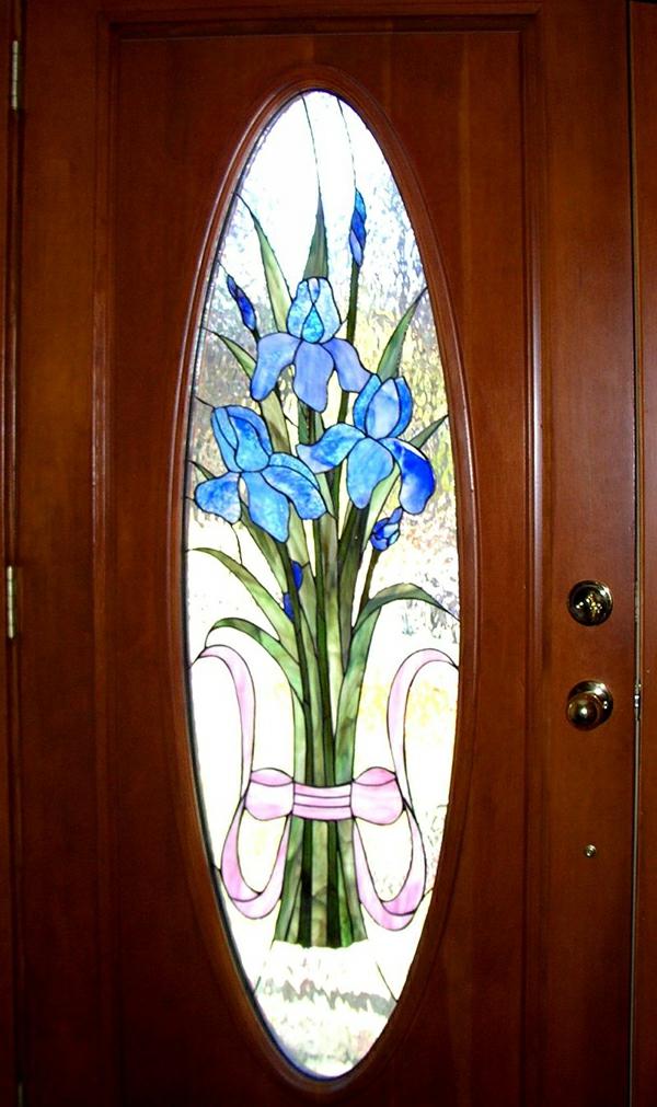 Glasmalerei zu Hause eingangstür blumen strauß