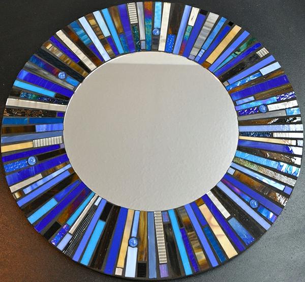 Glasmalerei zu Hause rund wandspiegel rahmen