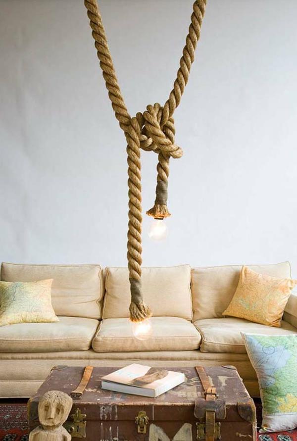 h ngelampen aus seil von atelier 688 entworfen. Black Bedroom Furniture Sets. Home Design Ideas