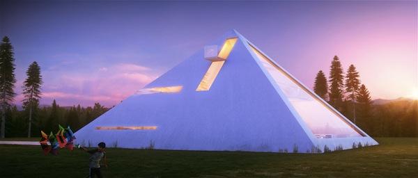 Haus in Form von Pyramide entwurf eigenartig