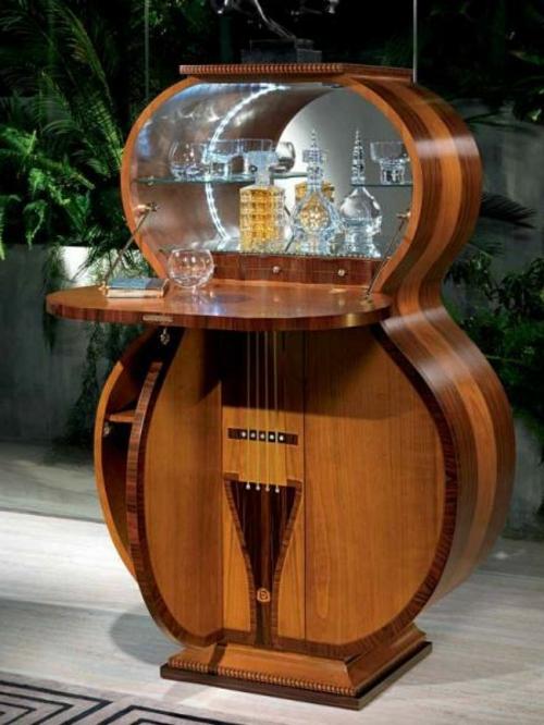 hausbar in form von gitarre in italien hergestellt. Black Bedroom Furniture Sets. Home Design Ideas