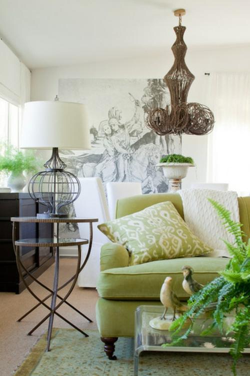 elegante Lampen und Leuchten als Dekoration eklektisch wohnzimmer