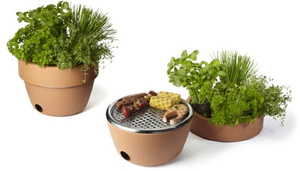 Ihr Grill und Kräutertopf  barbecu  gerät essen pflanzen