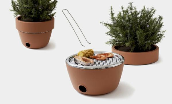 Ihr Grill und Kräutergarten barbecue gerät pflanzen