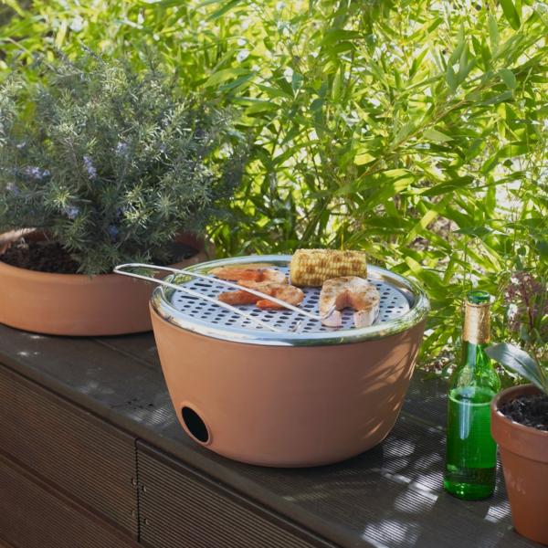 grill Kräutergarten in einem balkon design idee klug barbecue