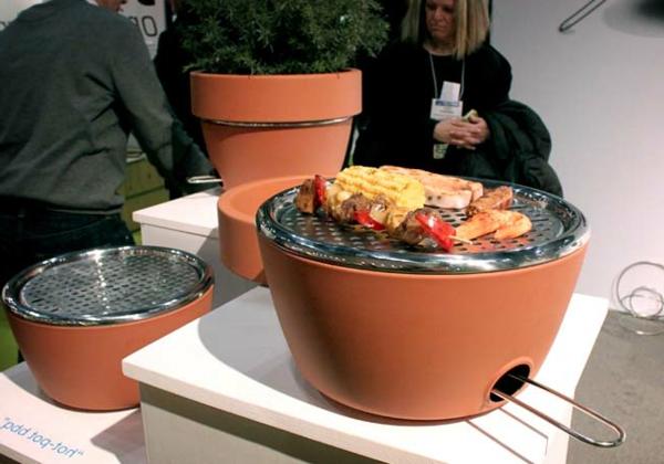 Barbecue und Kräutergarten in einem balkon design idee klug