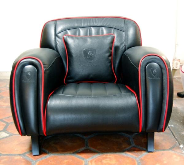 Imola S Sessel von Tonino Lamborghini schwarz stuhl
