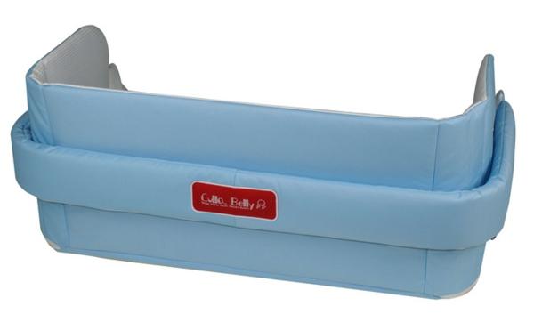 Babybett Cully Belly Co Sleeper in blau