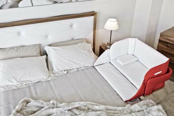 innovatives babybett cully belly co sleeper. Black Bedroom Furniture Sets. Home Design Ideas