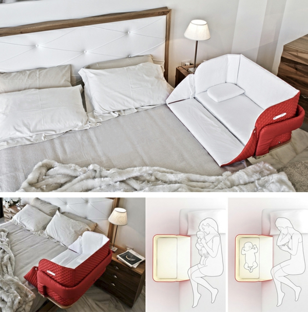 Schlafzimmer Mit Babybett #22: Innovatives Babybett Cully Belly Co Sleeper