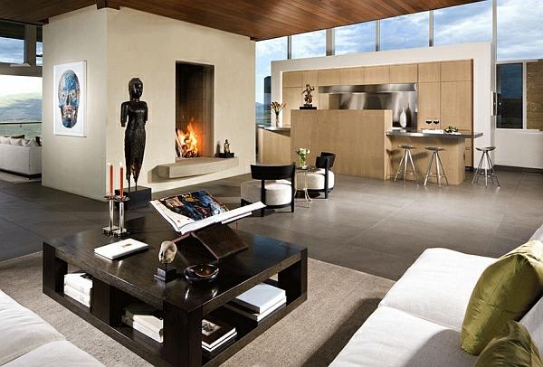 Jamaica Hocker brillant modern wohnzimmer massiv couchtisch