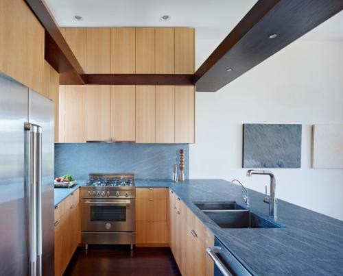 Küchenarbeitsplatte und Küchenrückwand holz küchenschrank schubladen
