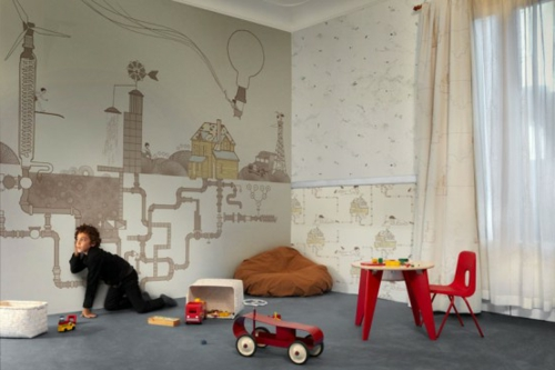 Tapeten Kinderzimmer Schadstofffrei : Tapete Fuer Das Kinderzimmer Mit ~ Boys and girls flippige tapeten