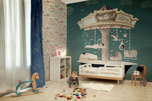 kunstvolle tapeten im kinderzimmer. Black Bedroom Furniture Sets. Home Design Ideas