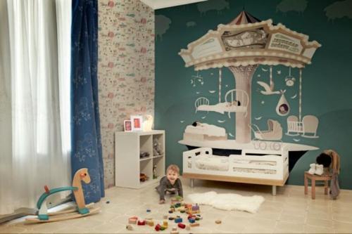 kunstvolle tapeten im kinderzimmer. Black Bedroom Furniture Sets. Home Design Ideas