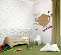 Kunstvolle Tapeten im Kinderzimmer