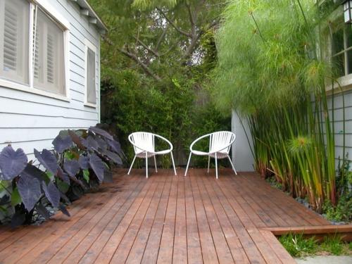 Lösungen für  feuchte Erde hof garten gestaltung patio außenbereich