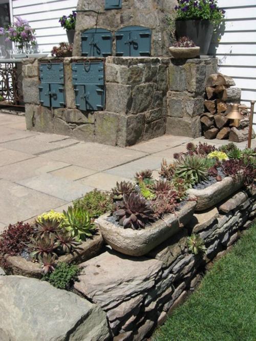 Wand Gestaltung Stein : Schaffen Sie eine Containergarten, der alle anderen mit Qualität