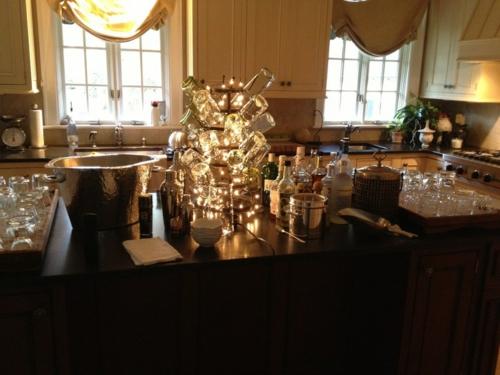 Leichte Deko für Weihnachten und Neujahr küche glas