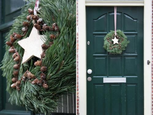 Türkranz Weihnachten leichte deko für weihnachten und neujahr