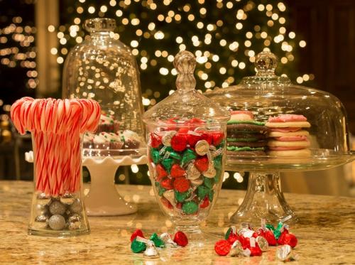 Leichte Deko für Weihnachten und Neujahr traditionell deckel glas