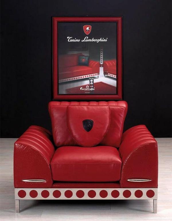 Möbel von Tonino Lamborghini sessel rot leder