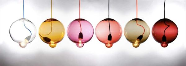 Meltdown Kugellampe aus Buntglas glühbirne hängend sammlung