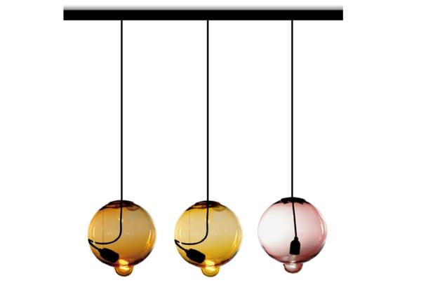 Holz Lampen Von Johan Lindstén ~ Meltdown Kugellampe aus Buntglas glühbirne verschmelzen